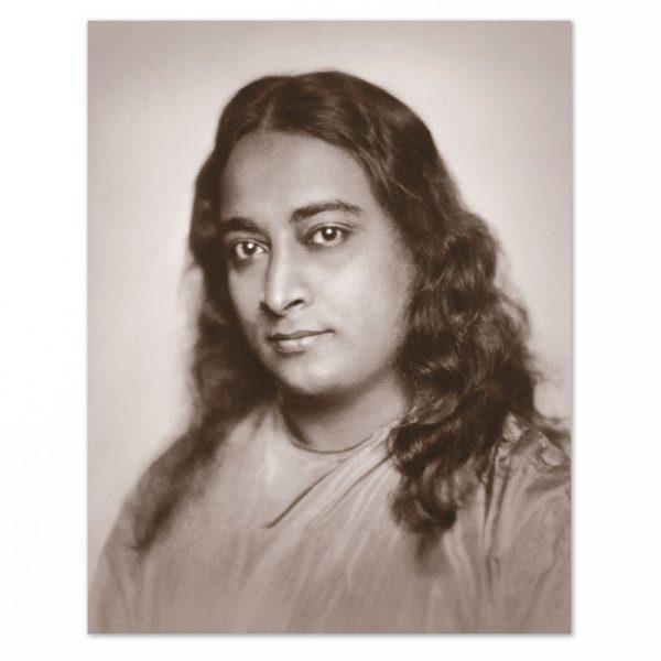 Fotografia di Yogananda da giovane - tono seppia-0