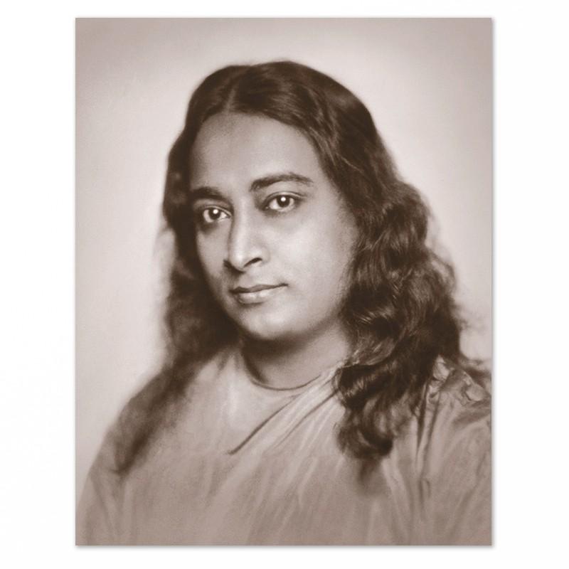 Fotografia di Yogananda da giovane – tono seppia-0