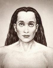 Fotografia di Mahavatar Babaji - tono seppia-0