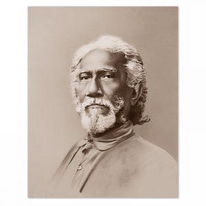 Fotografia di Swami Sri Yukteswar - tono seppia-0