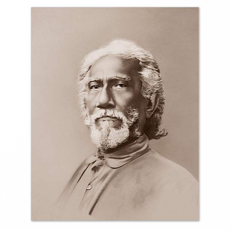 Fotografia di Swami Sri Yukteswar – tono seppia-0